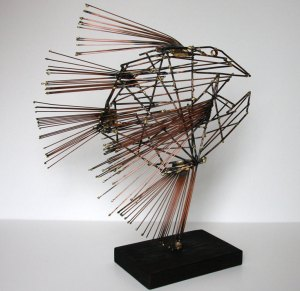 Metal Fish Sculpture by Buzz Leighton